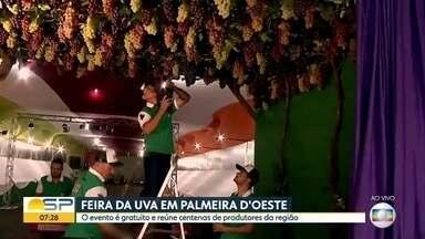 """""""Feira da Uva"""" em Palmeira d'Oeste - Evento reúne centenas de produtores da região. A entrada é gratuita."""