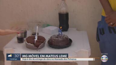 MG Móvel acompanha entrega de obra na Alameda dos Pinheiros, em Mateus Leme - Situação do local é acompanhada desde maio do ano passado.