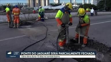 Incêndio provoca interdição de parte da ponte do Jaguaré por 15 dias - A interdição será no sentido Bairro e vai impactar a vida de quem circula pela Zona Oeste.