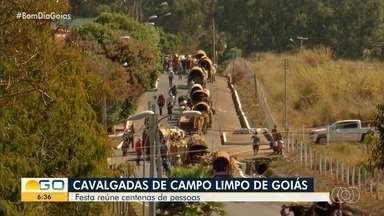 Confira cavalgada de Campo Limpo de Goiás - Veja como foi festa tradicional que reuniu pessoas de todas as partes do estado.