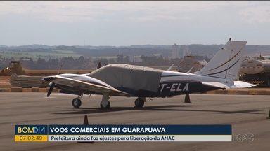 Aeroporto em obras desde 2017 ainda não recebe vôos comerciais - Aeroporto de Guarapuava precisou fazer adequações por pedido de uma companhia aérea.