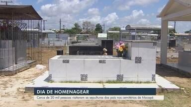 Cerca de 20 mil pessoas visitaram os cemitérios de Macapá no Dia dos Pais - Data foi celebrada no domingo (11).