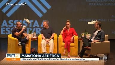 Último dia da Flipelô é marcado por discussões literárias e música, no Pelourinho - O jornalista da Rede Globo, Edney Silvestre, também participou do evento no fim de semana, lançando o livro 'O último Dia da Inocência'.