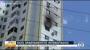 Apartamentos são interditados após incêndio em prédio de Goiânia - Perícia ainda não consegui determinar o que provocou o fogo.