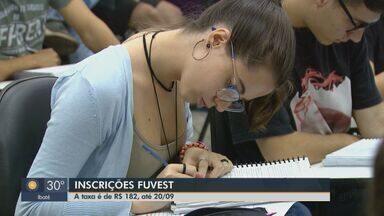 Inscrições para vestibular da Fuvest começam nesta segunda-feira - Prazo para estudantes se inscreverem é até 20 de setembro e taxa é de R$ 182.