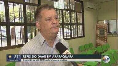 Daae de Araraquara realiza refis com desconto de até 100% sobre juros e multas - Oportunidade é para pagamento à vista em dinheiro, cheque ou cartão de crédito.
