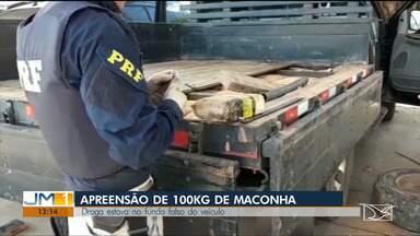 PRF apreende 100 kg de maconha escondida em caminhonete em rodovia no Maranhão - Apreensão da droga aconteceu no domingo (11) por volta das 12h no Km 416 da BR-222, Santa Luzia.