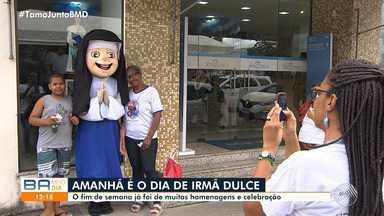Devotos homenageiam Irmã Dulce com programação especial na Cidade Baixa - Na terça-feira (13) é comemorado o dia da Bem-Aventurada Dulce dos Pobres, que vai ser canonizada no mês de outubro e se tornará a primeira santa brasileira.