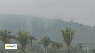 Incêndio florestal atinge reserva ambiental na região de fronteira com a Bolívia - Fogo devastou parte da vegetação do Parque Natural Serra dos Parecis