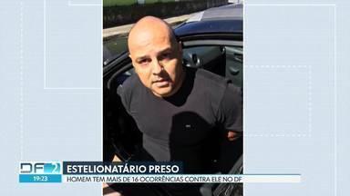 Suspeito de estelionatos no DF e GO foi preso em cidade litorânea de São Paulo - Homem é suspeito de aplicar diversos golpes, entre eles a venda de veículos com vários débitos.