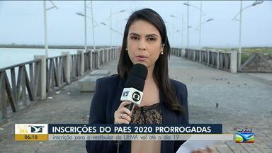 Prorrogadas as inscrições do Paes 2020 - Candidatos podem se inscrever até a segunda-feira (19) e mais de 4,4 mil vagas estão sendo ofertadas pelo PAES 2020.