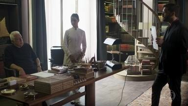 Diogo tenta convencer Alberto a assinar o testamento - Alberto comenta que só sua neta o compreende