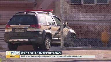 Justiça interdita parcialmente o Ceresp Gameleira, em Belo Horizonte - Unidade pode receber até 1,2 mil detentos. Autuados em flagrante estão vão para o Ceresp de Contagem, na Região Metropolitana.