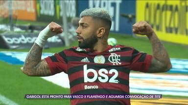 Gabigol está pronto para o jogo contra o Vasco e aguarda convocação de Tite - Gabigol está pronto para o jogo contra o Vasco e aguarda convocação de Tite