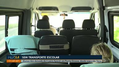 Falta de transporte escolar prejudica alunos da Apacd, em Ponta Grossa - Eles têm deixado de ir para as aulas desde segunda-feira (12).