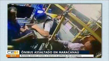 Ônibus é assaltado em Maracanaú - Saiba mais em g1.com.br/ce