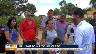 Moradores do Novo Lameiro mostram os problemas da comunidade - Saiba mais em g1.com.br/ce