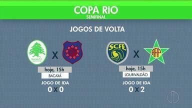 Times do interior jogam pela semifinal da Copa Rio - Assista a seguir.