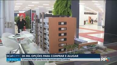 Feira traz 30 mil opções para quem quer comprar ou alugar imóveis em Curitiba - A Feira de Imóveis tem opções pra todos os bolsos.