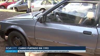 Antigo dono do carro roubado há 27 anos diz que não vale a pena trazer o carro pra casa - O carro foi furtado em 1992 em São Paulo e foi recuperado este ano na Ponte da Amizade em Foz do Iguaçu.