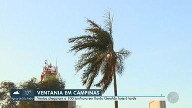 Campinas tem ventos de 100 km/h nesta quarta-feira; veja previsão - Com poucas nuvens, dias devem ter temperaturas baixas.