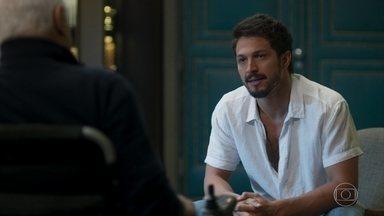Marcos explica que seu casamento é de mentira - Alberto acha que Marcos não está a altura de comandar a editora