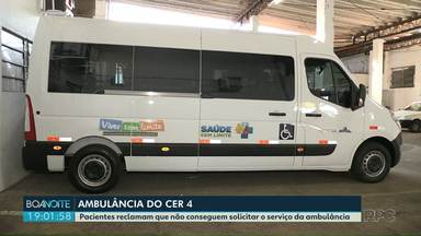 Pacientes reclamam que não conseguem solicitar o serviço da ambulância do CER IV em Foz - A ambulância foi entregue ao município pelo Ministério da Saúde para transportar exclusivamente pacientes cadeirantes para o CER IV em Foz