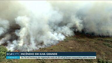 Incêndio destroi mais da metade do Parque Nacional de Ilha Grande - Mais de 35 mil hectares foram queimados.