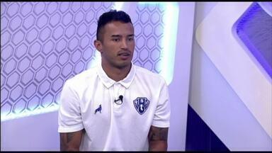 GE na Rede: veja a íntegra da entrevista com Bruno Oliveira - Lateral-direito falou sobre o ínicio da sua carreira, passagem pelo Palmeiras, momento do Paysandu, metas com a camisa bicolor e o retorno ao time após a lesão que sofreu no joelho direito