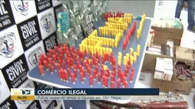 Polícia apreende armas e cigarros no Maranhão - Polícia ainda prendeu dois comerciantes que estavam vendendo ilegalmente munição em comércios na região do Vale do Pindaré.