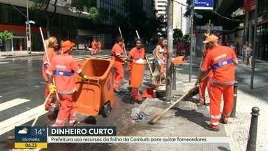 Prefeitura do Rio usa recursos da folha de pagamento da Comlurb para quitar fornecedores - São mais de R$ 66 milhões previstos para o pagamento de salários e despesas obrigatórias da Comlurb.