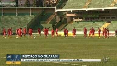 Meia-atacante Marquinhos deve estrear contra o Vila Nova - Jogo entre Guarani e Vila Nova acontece nesta sexta-feira (16) em Campinas.