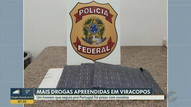 Espanhol que seguia para Portugal é preso com cocaína em Viracopos - Apreensão de drogas é a segunda em menos de uma semana, no Aeroporto de Viracopos.