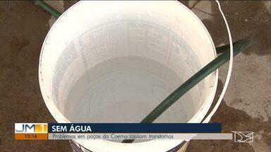 Moradores sofrem com a falta de água em Santa Inês - Sistema de poços que abastece a cidade vive dando problemas.