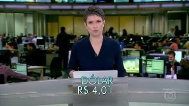 Dólar está cotado a R$4,01, com queda de 0,72% - Bovespa está em leve baixa, de 0,32%.