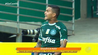 Após empate com o Bahia em casa, Palmeiras completa cinco jogos sem vencer no Brasileiro - Time paulista briga pelo título da competição, mas enfrenta uma sequência ruim no campeonato.