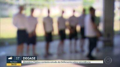 MP faz avaliação sobre estudo da Defensoria Pública no Degase - Levantamento apontou baixa reincidência de menores liberados por ordem do STF.