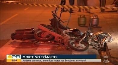 Homem morre após colisão entre duas motos, em João Pessoa - Vítima era entregador de botijões de gás e colidiu com outra moto. Outro motociclista ficou ferido.