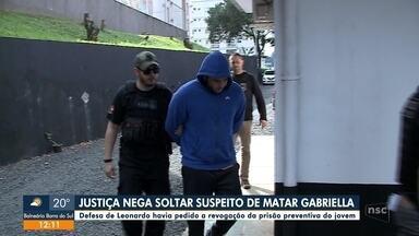 Justiça nega soltar suspeito de matar a jovem Gabriella em Joinville - Justiça nega soltar suspeito de matar a jovem Gabriella em Joinville