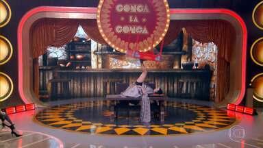 'Viradora de Mesas' se apresenta no Gonga La Gonga - Atração agrada o júri