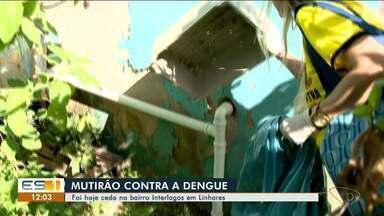 Linhares, ES, tem mutirão contra a dengue no bairro Interlagos - Ação aconteceu neste sábado (17).