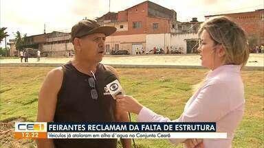 Feirantes reclamam da falta de estrutura no Conjunto Ceará - Saiba mais em g1.com.br/ce
