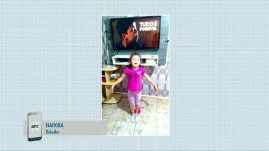 Telespectadores chamam o intervalo do Meio Dia Paraná - Para participar, é só enviar o vídeo para o telefone (45) 9 9973-2385.