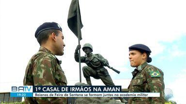 Pela primeira vez, casal de irmãos se forma na Academia Militar das Agulhas Negras - Irmãos são da cidade de Feira de Santana. Academia é única que forma combatentes no Exército brasileiro.