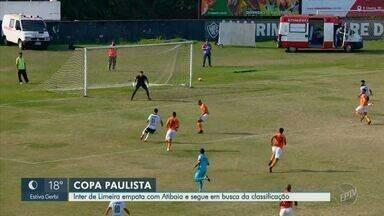 Inter de Limeira empata com Atibaia e segue em busca da classificação - Jogo aconteceu na tarde deste sábado (17), no Estádio Décio Vitta, em Americana (SP).