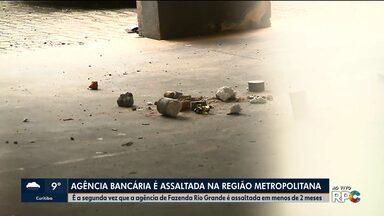 Banco de Fazenda Rio Grande é assaltado pela segunda vez em menos de dois meses - A agência bancária está funcionando normalmente nesta segunda-feira (19).