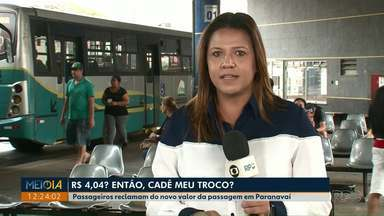 Passagem de ônibus sobe para R$ 4,04 e gera polêmica em Paranavaí - Empresa disse que não pode arredondar valor para R$ 4 porque isso geraria prejuízo.