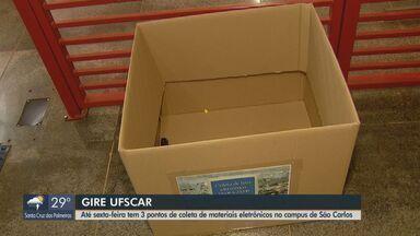 UFSCar tem pontos de coleta de lixo eletrônico no campus de São Carlos - Celulares, cabos, fones de ouvido, entre outros itens, podem ser depositados nos três locais até sexta-feira (23).
