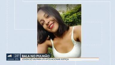 Mulher baleada no pulmão espera dois dias por vaga em UTI - Ela foi atingida perto da casa da família, no Novo Gama. Justiça foi acionada.