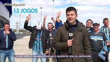 Grêmio joga para obter gol qualificado na Libertadores - Time Tricolor deve ser o mesmo que enfrentou o Athletico-PR.